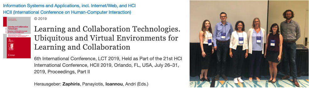 "Session ""Wearable Technologies for Learning and Collaboration"" HCI International 2019"